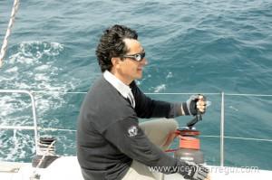 Jose trimando el Foque 3