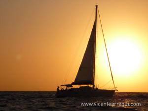 Santa Clara a la puesta de sol