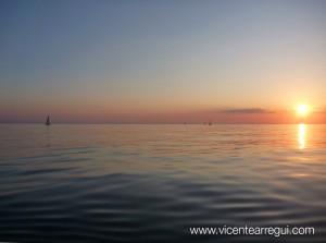 Mar como una balsa de aceite